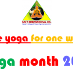 One week of Yoga Classes Free in Yoga Month